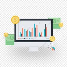 Stock Market Graph With Money In Desktop Stock Market