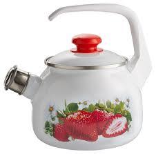 Лысьвенский завод <b>эмалированной</b> посуды <b>Чайник</b> со свистком ...