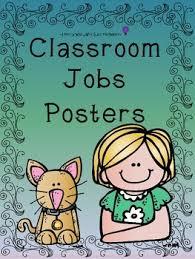 First Grade Job Chart Classroom Job Chart