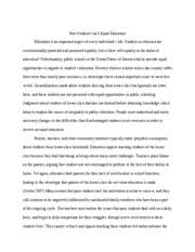 education essay four valuing equality in education people must  6 pages essay three