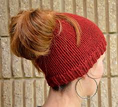Ponytail Hat Knitting Pattern Fascinating The Best Free Knit Ponytail Hat Patterns Aka Messy Bun Beanies A