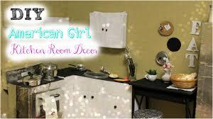 Diy American Girl Doll Kitchen Room Decor Youtube