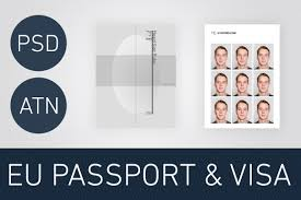 Us Passport Template Psd Photoshop Passport Photo Template Usa Version