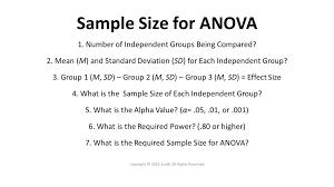 effect size anova calculate the sample size for anova