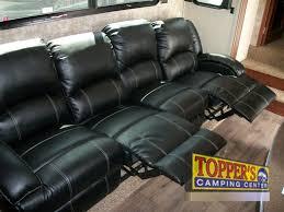 evergreen tesla 3950 fifth wheel toy hauler seating