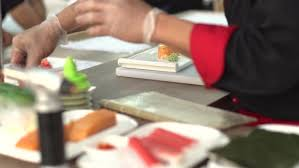Sushi Cook Chef Prepares Sushi In Japanese Stock Footage Video 100 Royalty Free 24294644 Shutterstock