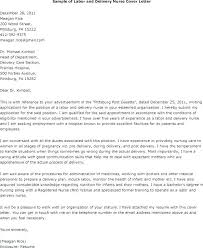 Nurse Cover Letters Cover Letter Examples For Labor And Delivery Nurses Get