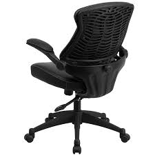 Flash Furniture BL-ZP-804-GG Mid-Back Black Leather Office Chair ...