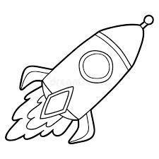 Kontur rakieta ilustracja wektor. Ilustracja złożonej z digitalis -  101706762