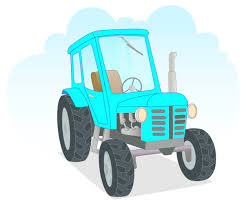 blue agricultural tractor wall decal wall decals