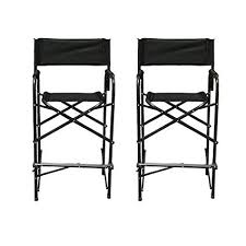 impact canopy director s chair tall folding director s chair heavy duty set of 2