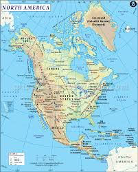 United States Map Of The World Northamerica Map Includes Canada Unitedstates Two Of The Largest