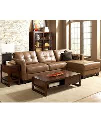 macys living room furniture martino leather sectional living room furniture sets pieces decor