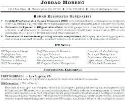 Human Resource Generalist Resume Template Hr Sample Buy Or Yomm Enchanting Human Resources Generalist Resume