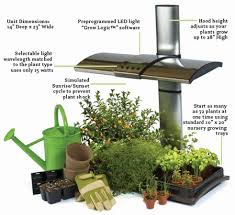 Herb Kitchen Garden Kit Interesting Led Kitchen Garden Supporting Proper Herb Environment
