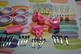 amazoncom barbie size dollhouse furniture accessories plate glasses spoon toys games amazoncom barbie size dollhouse