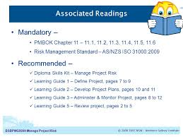 bsbpmga manage project risk manage project risk unit guide  8 bsbpmg508a