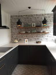Brick wallpaper kitchen, Kitchen ...