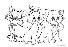 Cat Pics For Kids Coloring Pages Halloween Disney Printable Princess