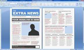 Microsoft Word Newspaper Template Newspaper Template Publisher Shatterlion Info
