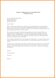 Perfect Sample Of Employment Recruitment Application Letter For Substitute Teacher  Position Featuring Programs Expozzer
