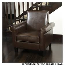 Freemont Brown Bonded Leather Club Chair by Christopher Knight Home - Free  Shipping Today - Overstock.com - 13483911