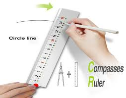 3d Printed Ruler Compass By Frederic_poignie Pinshape