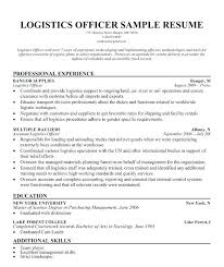 Logistics Resume Logistics Resume Sample Logistic Resume Samples ...