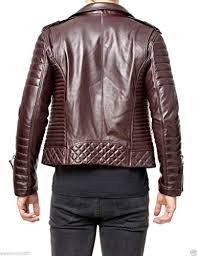 World Of Leather Men's Brown Biker Quilted Leather Jacket - Men ... & World Of Leather Men's Brown Biker Quilted Leather Jacket Adamdwight.com