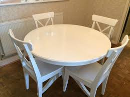 dining room ikea tables table set sets l white round createfullcircle black dinner for and chairs furniture casual wood dinette small