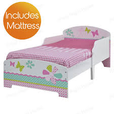 gray mattress children s girls pink patchwork toddler new details about with tesco kids stylish