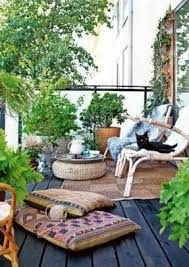 outdoor floor cushions. 31 Creative Yet Simple Summer Balcony Décor Ideas To Try - DigsDigs. Gardening, Outdoor Balcony, Floor Cushions
