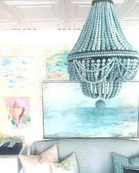 turquoise beaded chandelier best ideas on bead wood and basket diy turquoise beaded chandelier