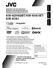 jvc kw av61bt manual jvc kw av61bt instruction manual