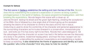l essays for beginners 23 example for gattaca