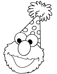 elmo birthday coloring pages. Simple Birthday Elmo Muppet Coloring Page  Free Printable Pages In Birthday Y