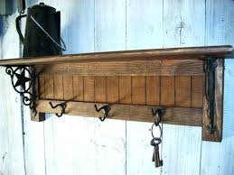 Decorative Coat Rack With Shelf Inspiration Wall Mounted Coat Hooks With Shelf Wall Mounted Coat Hanger Oak Rack
