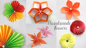 How To Make Flower With Paper Folding 5 Easy Paper Flowers Diy Videos Paper Folding Youtube