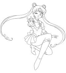 Sailor Moon In Posa Disegni Da Stampare E Colorare Per Bambine