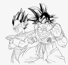 Dragon Ball Z Kai Coloring Pages Goku And Vegeta Coloring Pages