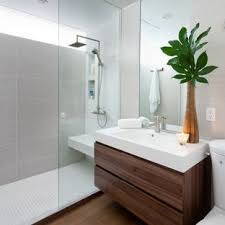modern bathroom design. Example Of A Minimalist Gray Tile Bathroom Design In Toronto With An  Integrated Sink, Flat Modern T