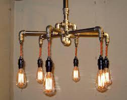 industrial pipe lighting. Industrial Pipe Chandelier #2 - Unique Wood \u0026 Lighting