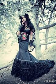 gothic wedding dress evening gown red carpet gown 2333617