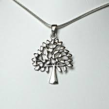 polished sterling silver tree of life pendant wicca reiki pagan spirit