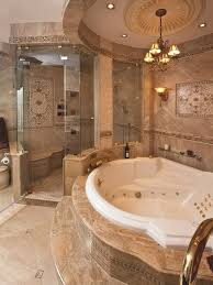 bathroom remodel design ideas. Delighful Design Glamorous Bathroom Remodel Ideas With Jacuzzi Tub Also Beauty Chandelier  Design Plus Modern Large Glass Shower To E
