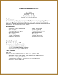 Resume Templates For Highschool Students With No Experience Awesome