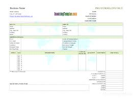 Proforma Invoice Format In Excel