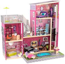 Kidkraft Bedroom Furniture Amazoncom Kidkraft Girls Uptown Dollhouse With Furniture Toys