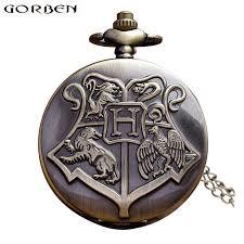 retro hogwarts harry potter pocket watch necklace