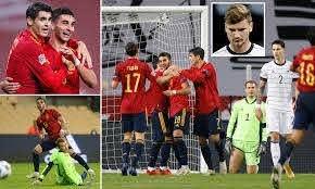 Spain 6-0 Germany: Ferran Torres hat ...